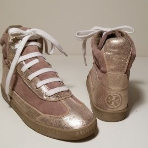 TORY BURCH Evelin High Top Sneaker Size 8.5M